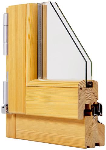 Finestra in legno 60mm fam serramenti - Finestre in legno lamellare ...