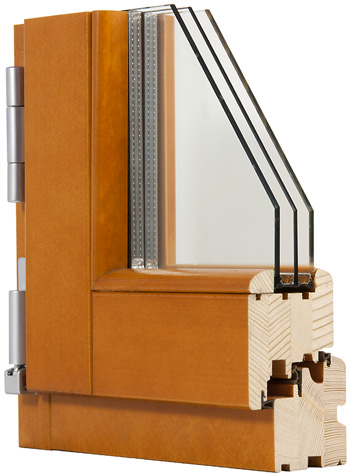 Finestra in legno 78mm fam serramenti - Finestre in legno lamellare ...