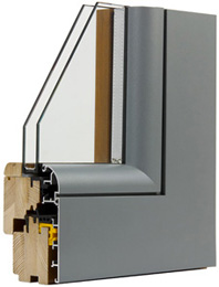 Finestra in Legno Alluminio T40