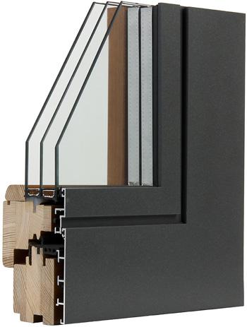 Finestra in legno alluminio t60 fam serramenti - Finestre legno e alluminio ...