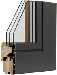 Finestra in Legno Alluminio T60