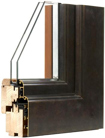 Finestre Legno Bronzo B60 vista esterna